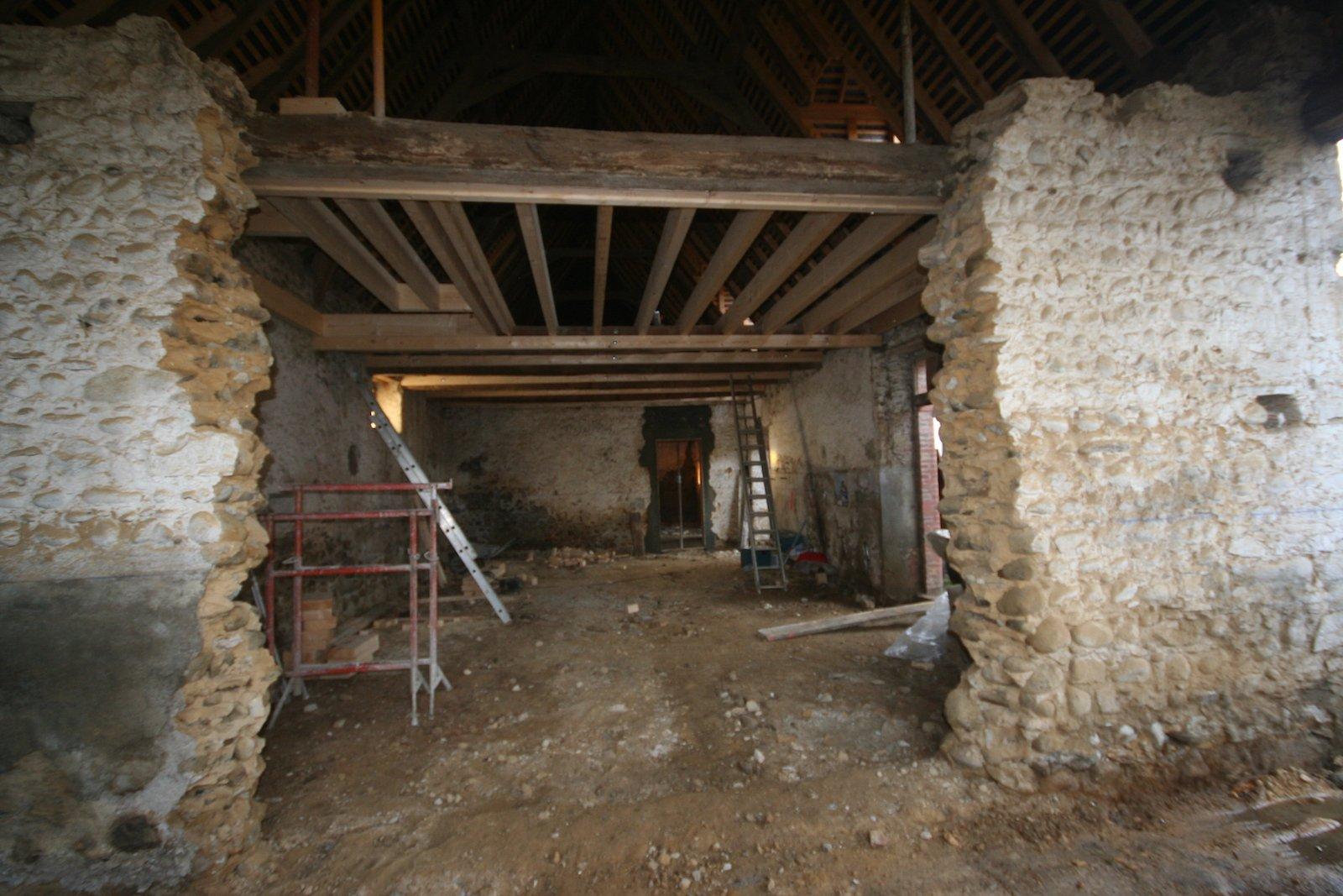 Plan dune vieille maison for Renovation grange