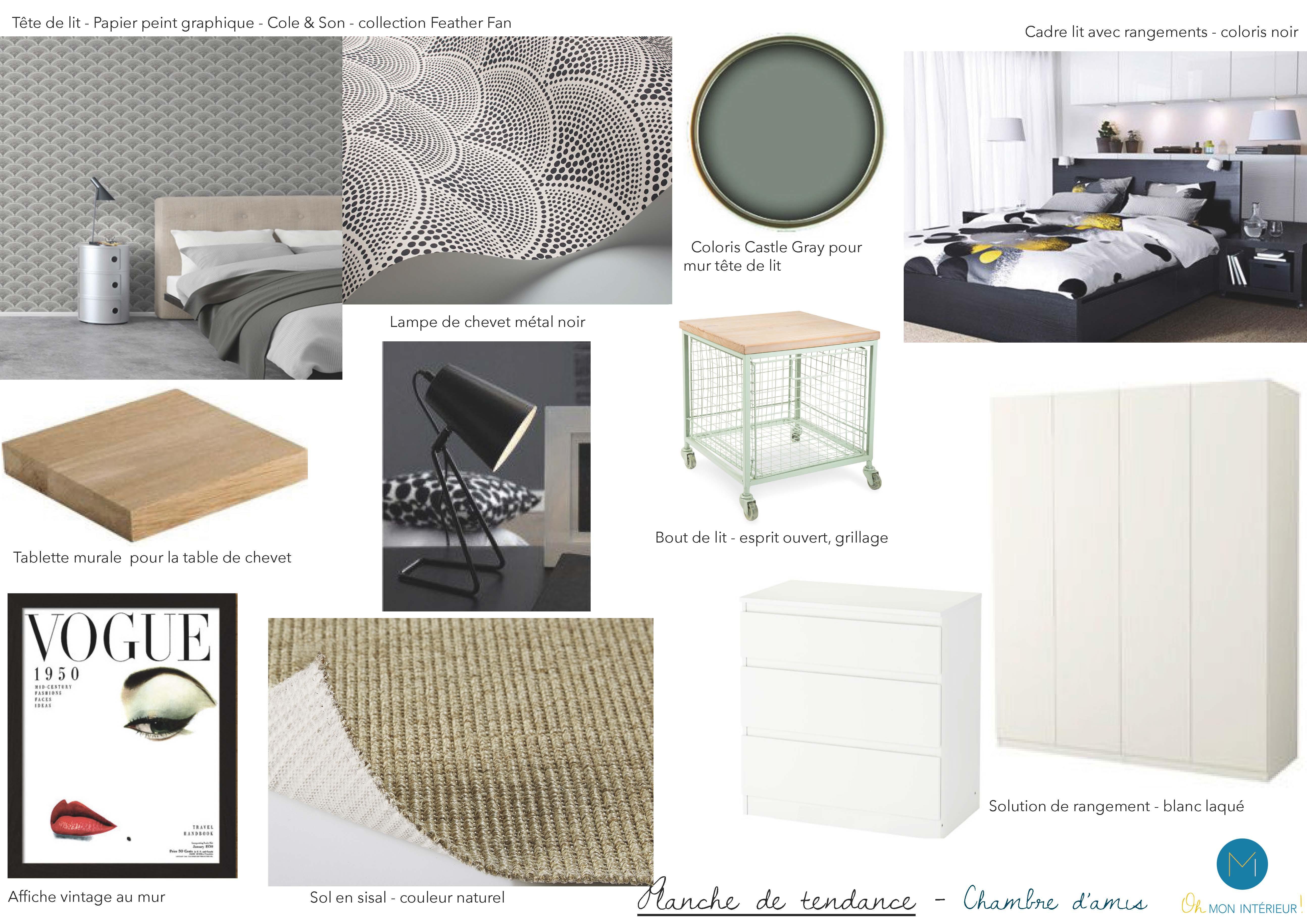 source d 39 inspiration pour une ambiance en noir et blanc oh mon int rieur. Black Bedroom Furniture Sets. Home Design Ideas